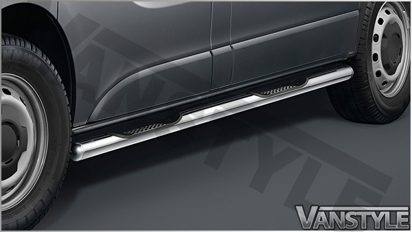 Cobra Sidebars With Integrated Steps - Vivaro Trafic Primastar