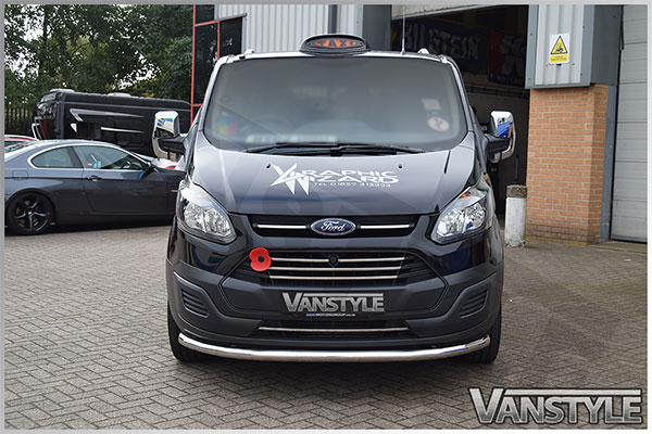 ford transit custom 5 piece stainless steel front grille 2012 vanstyle. Black Bedroom Furniture Sets. Home Design Ideas
