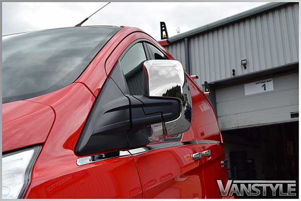 Ford Transit Custom Chrome ABS Mirror Covers 2012>