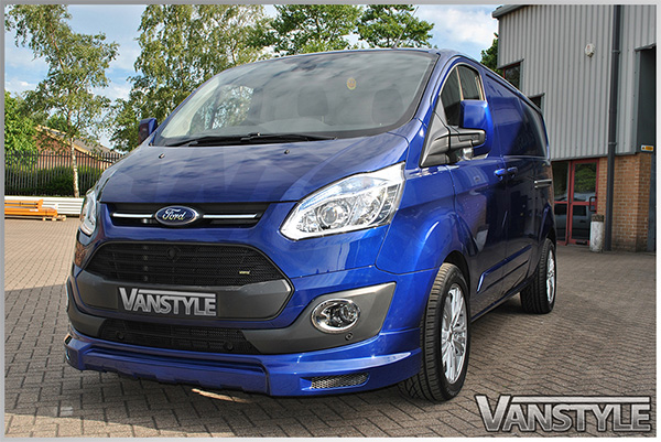 vs sport front splitter ford transit custom 2012 vanstyle. Black Bedroom Furniture Sets. Home Design Ideas