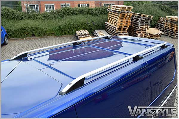 Ford Transit Custom Silver Aluminium Roof Styling Bars 2012>
