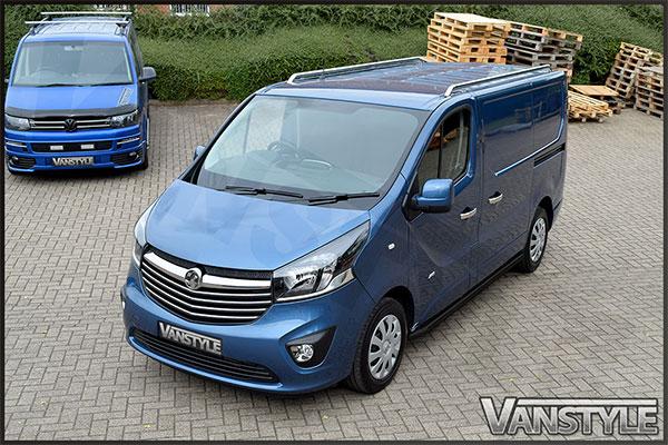 Vanstyle 60mm Black Sportline Sidebars Vivaro Trafic 01 14