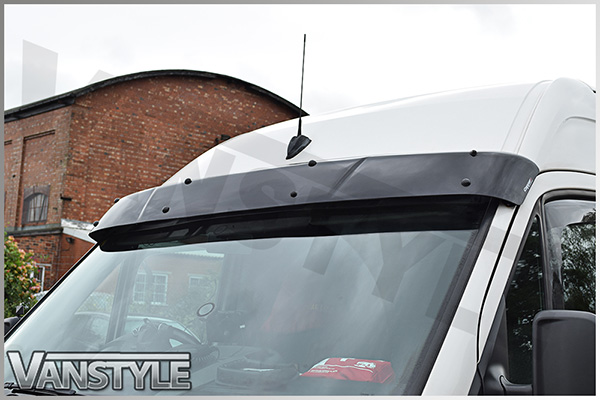 Mercedes sprinter 06 black acrylic dark solid sunvisor for Mercedes benz sprinter sun visor