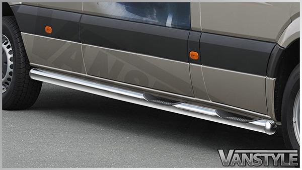 Details about MERCEDES SPRINTER MWB 2013> COBRA SIDE INTEGRATED STEPS BARS  RUNNING BOARDS 80MM