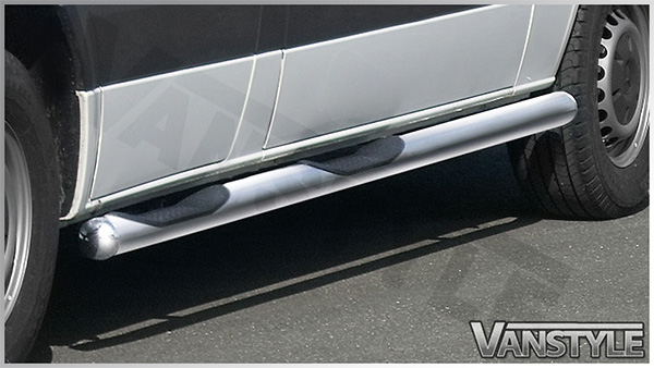 Details about VW CRAFTER MWB 2006 - 2011 COBRA SIDE INTEGRATED STEPS BARS  RUNNING BOARDS 80MM