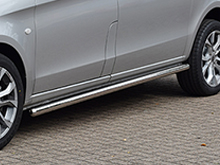 Side Bars 60mm Vanstyle Polished Stainless Steel