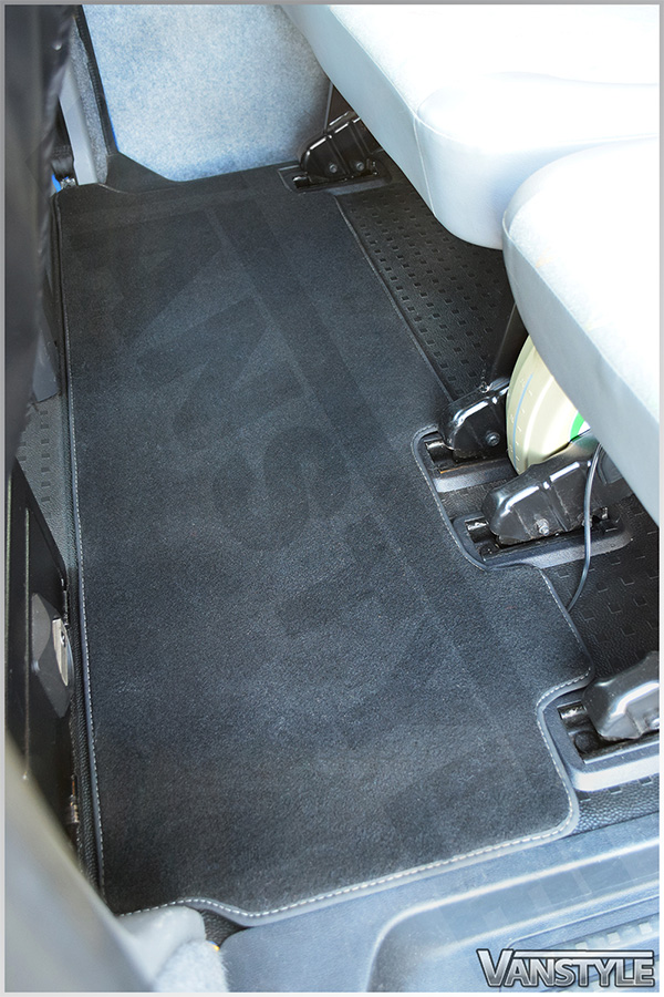 Vw T5 03 15 T6 15 Rear Carpet Mat Twin Sliding Rear Door
