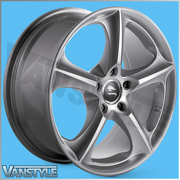 "SR1000 Wheel 17x7.5\"" Brite Metal Set of 4 - VW Transporter T5 T6"