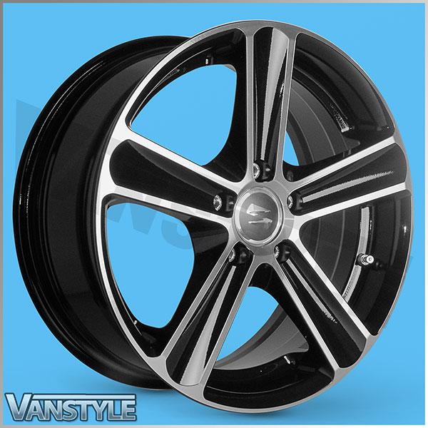 SR1100 Wheel 17x7.5 BLACK DIAMOND Set of 4 - Vivaro Trafic Prima