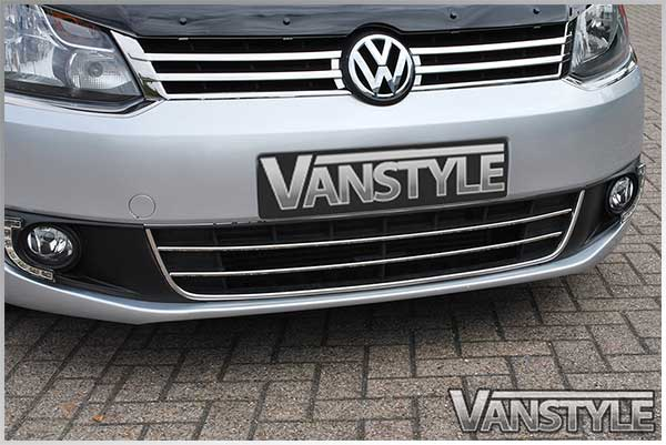 vw caddy maxi 2010 2015 3 piece front grille stainless steel grill