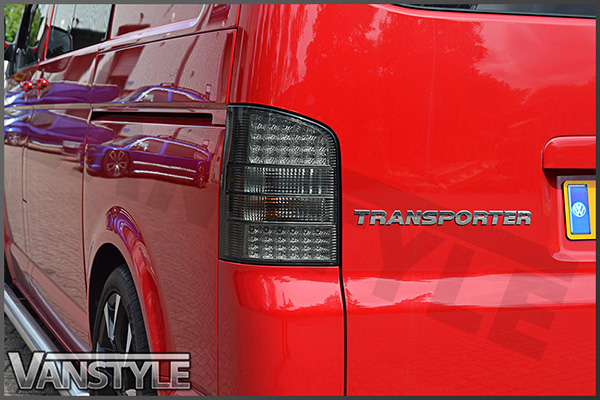 VW T5 03-09 Tailgate Smoked LED Rear Tail Lights