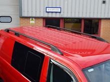 VW T5 & T6 Black Aluminium Roof Bars 03-15 + 2015>