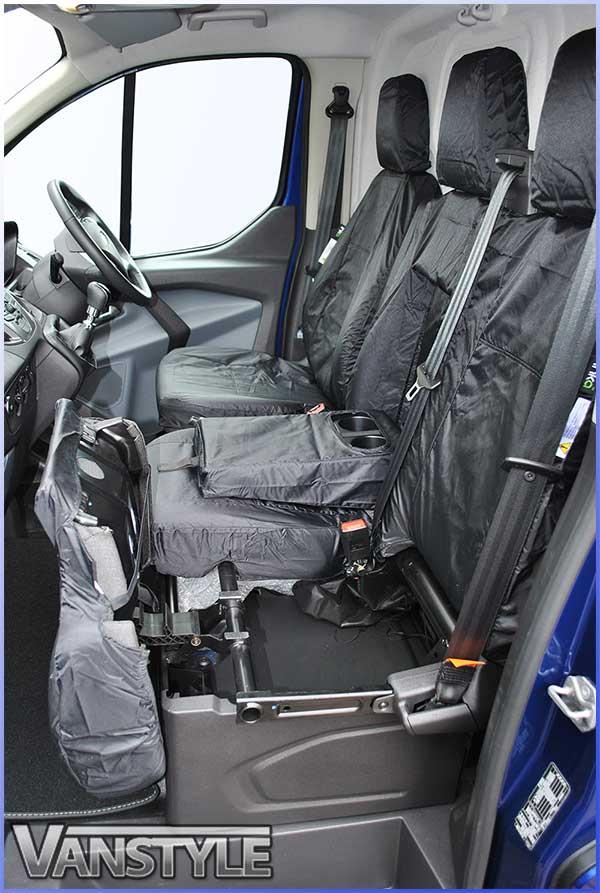 Transit Custom Black Front Seat Covers Waterproof Single