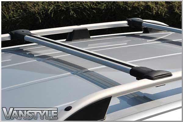 Vw Caddy Silver Roof Bars Cross Bar Set Vanstyle