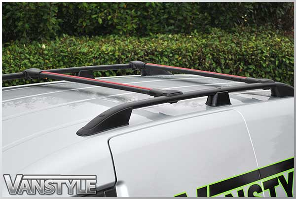 Vw Caddy Black Roof Bars Cross Bar Set Vanstyle