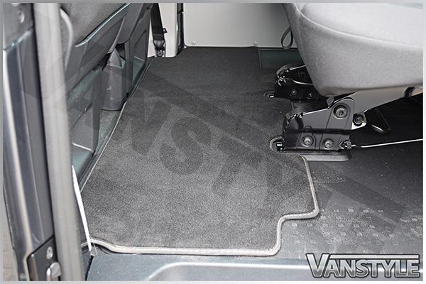 Vw T5 T6 Rear Carpet Mat Single Sliding Door Bench Seat