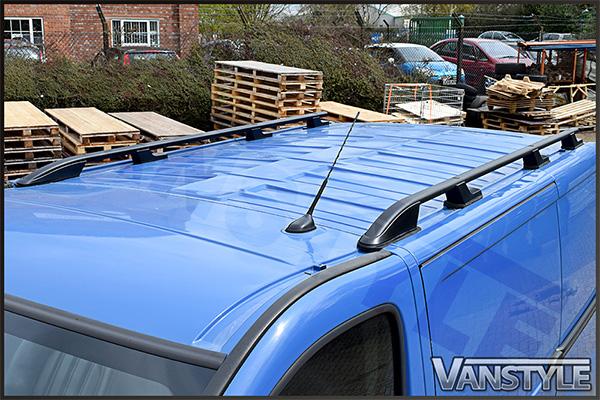 Vauxhall Vivaro 01 14 Lwb Black Aluminium Sport Roof Bars