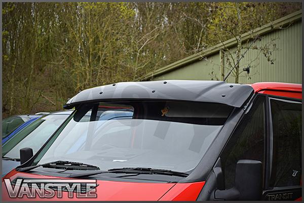 FORD TRANSIT MK6 00-07 BLACK SOLID SUNVISOR SUN VISOR WIND DEFLECTOR ... ae7ff29ddaa