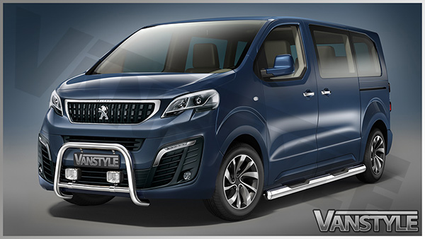 new peugeot expert traveller 2016 mwb lwb eu approved side bars steps step ebay. Black Bedroom Furniture Sets. Home Design Ideas