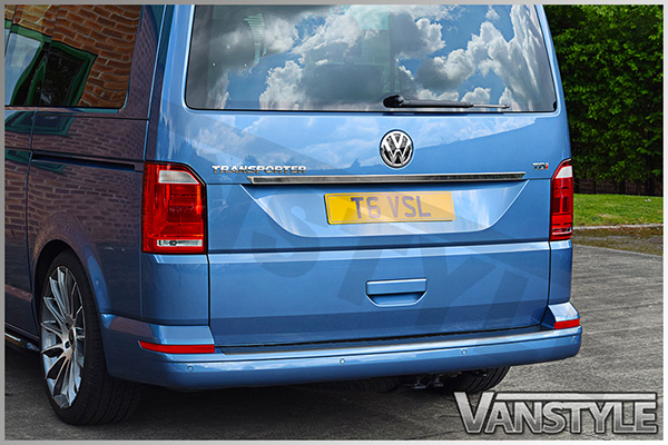 Polished S.Steel Above The Number Plate Trim - VW T6 2015>