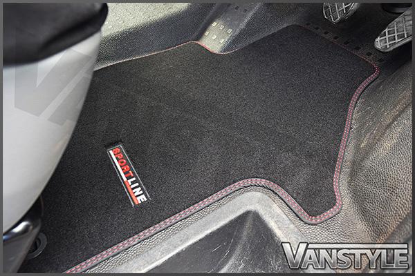 Genuine Oe Vw T5 T6 Sportline Front Carpet Mats Vanstyle