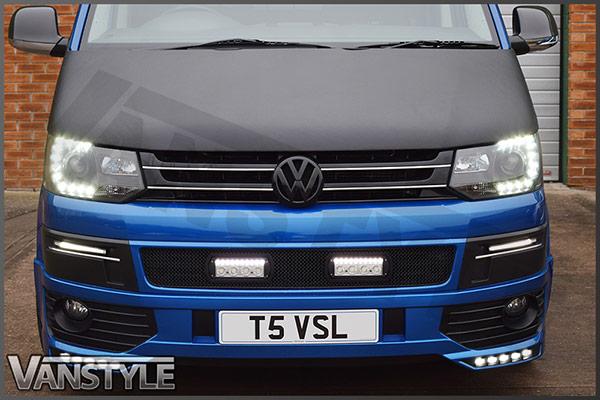 VW T5 2010-15 Full Bonnet Bra - Carbon Fibre Effect