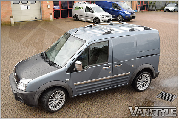 Ford Connect Low Roof 03 14 Silver Roof Cross Bars Vanstyle