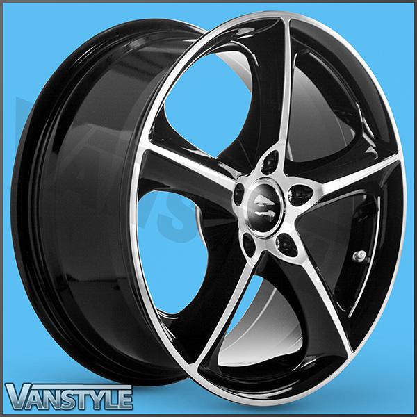 SR1000 Black Diamond 18x8 5x120 VW T5 T6 Alloy Wheels