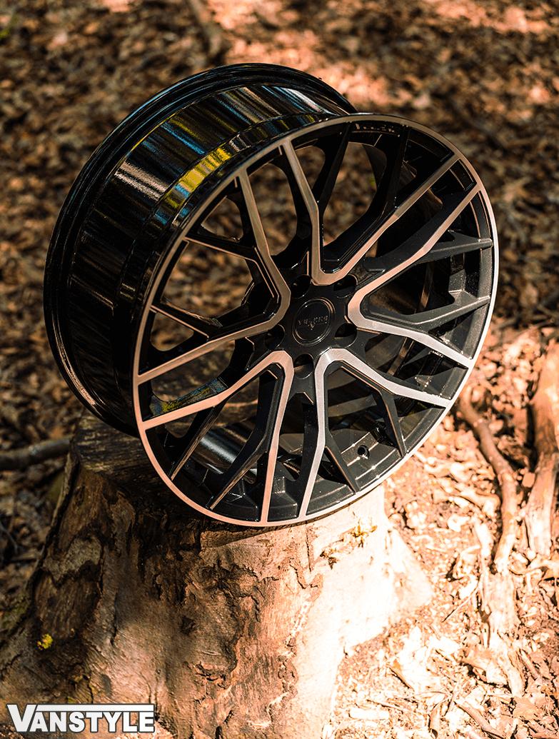 "Velare VLR08 20\"" Gloss Black & Polished Alloy Wheels - T5 T6"