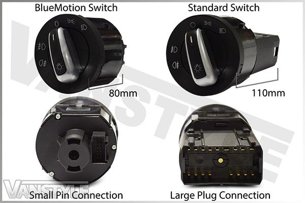 Auto Headlight Switch & Module VW T5 BlueMotion, T6 & Caddy