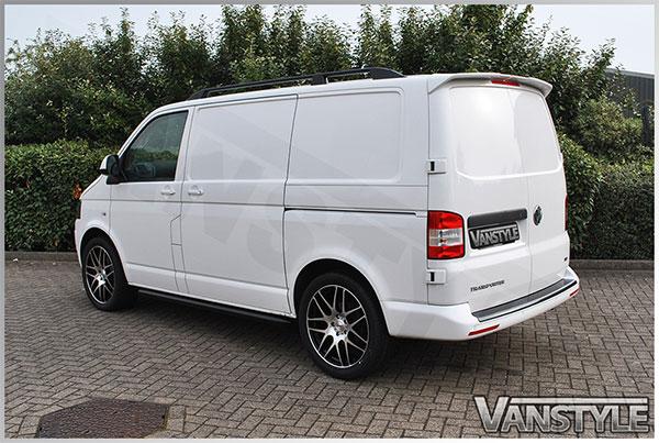 mainimage & VW T6 TRANSPORTER 2015+ REAR TWIN DOOR BARN DOOR PU STRONG SPOILER ...