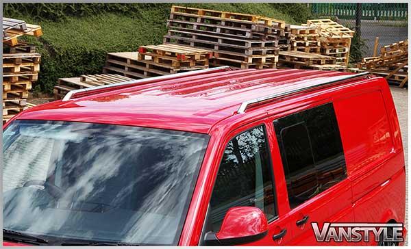 TRAX Styling Roof Bars LWB VW T5 03-15 & T6 2015>