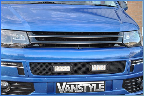 VW T5 10-15 \'Sportline\' Black Badgeless ABS Front Grille