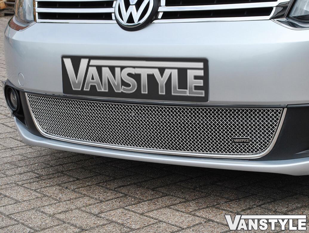 VW Caddy & Maxi 10-15 Mesh Lower Grille Polished - 4 Bar