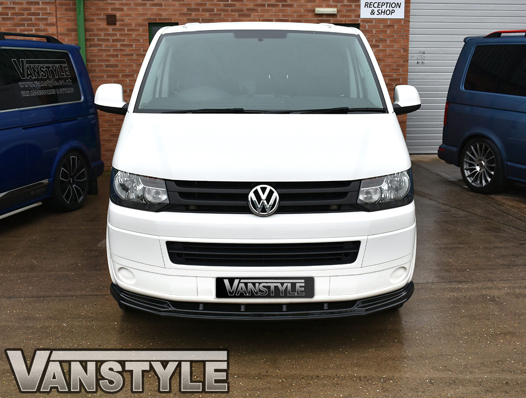 VW T5.1 2010-15 ABS Gloss Black Lower Front Lip Splitter