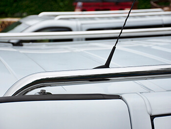 Polished Stainless Steel Roof Bars - Vivaro & Trafic 01>14