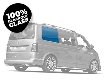 Full Blackout Off-Side Rear Fixed Privacy Glass - VW T5/T6 LWB