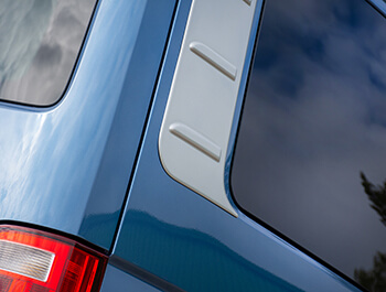 Silver ABS Outer Rear Side Panels - VW T5 & T6
