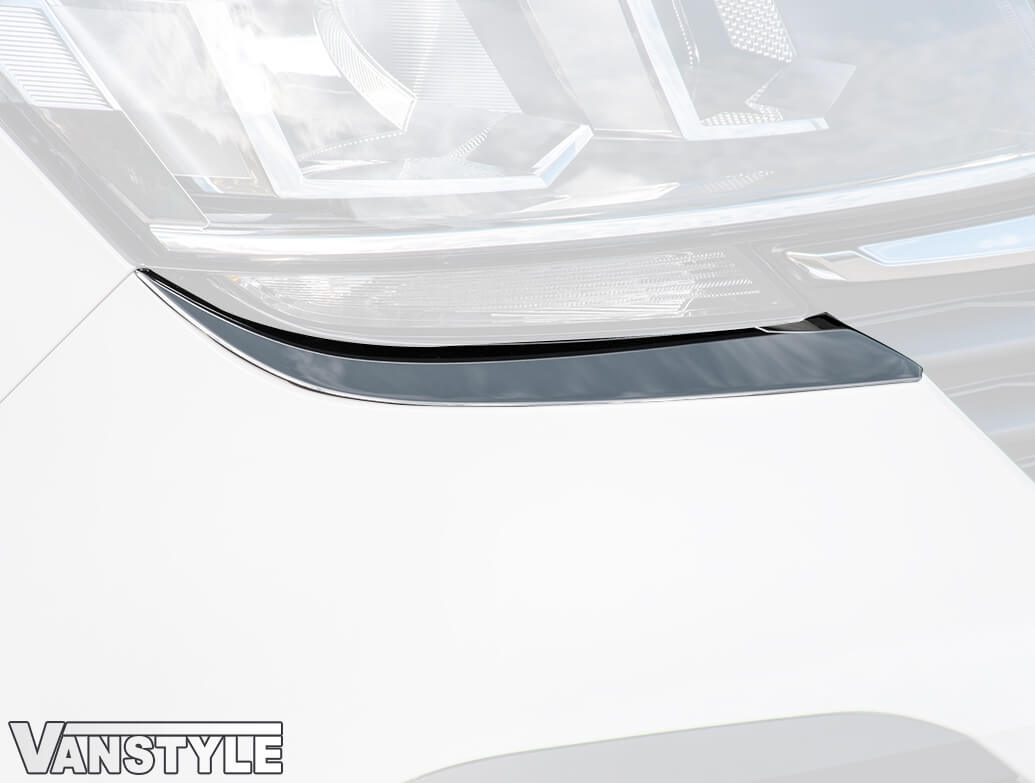 Polished Stainless Steel Headlight Lower Trims - VW T6.1 2019>