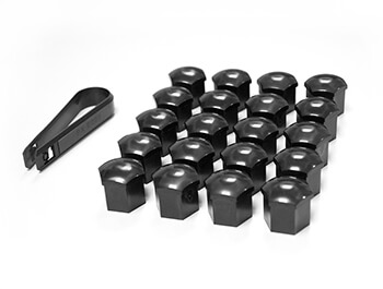 Black 19MM Hex Push-On Nut & Bolt Head Covers