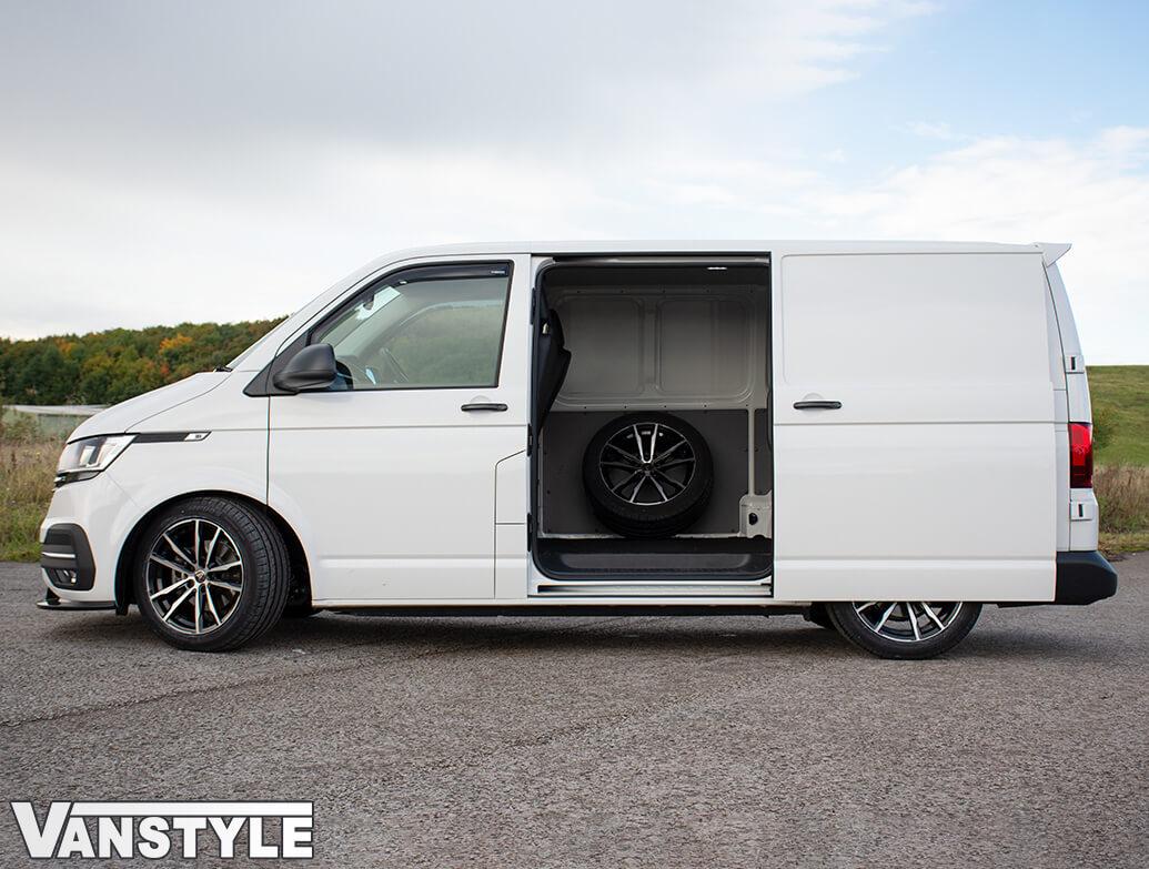 Wolfrace Dortmund Black & Polished 18in Wheel & Tyre - VW T5 T6