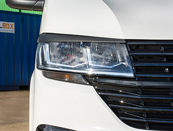 ABS Headlight Brows In Textured Black - VW T6.1 Transporter 19>