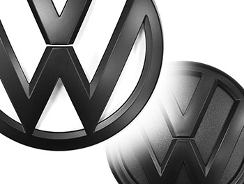 VW Replacement Front & Rear Matte Black Badge Set - VW T6 2015>