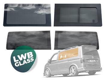VW T5//T5.1//T6 Glass Passenger and Driver Rear Quarter Glass Set