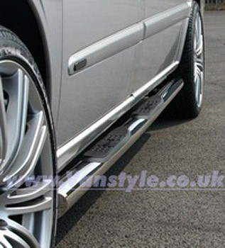 Side Bars 76mm (With Steps) TRAX Mercedes Vito & Viano