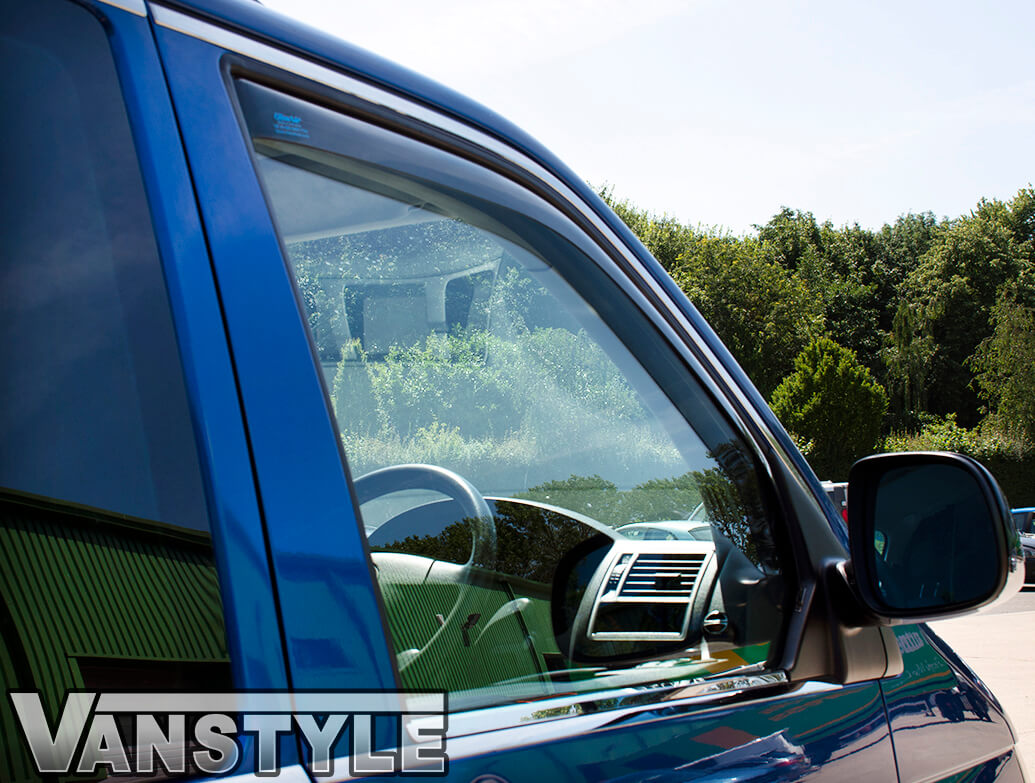 Side Window Deflectors Smoked (Front) VW T6 15>