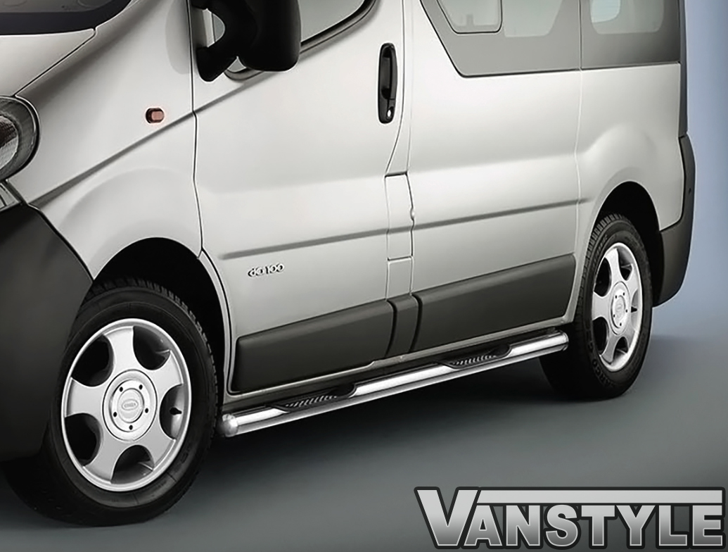 Cobra Sidebars With Integrated Steps - Vivaro Trafic Primastar