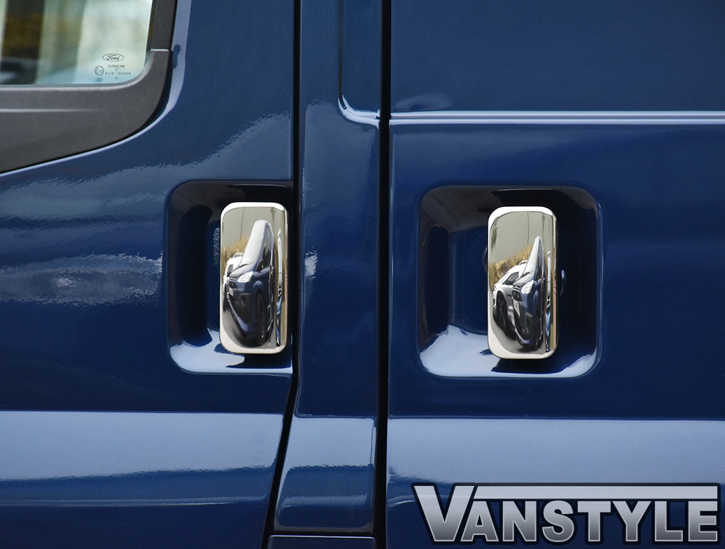 Door Handle Cover Set Stainless Steel - Ford Transit 2000>2012