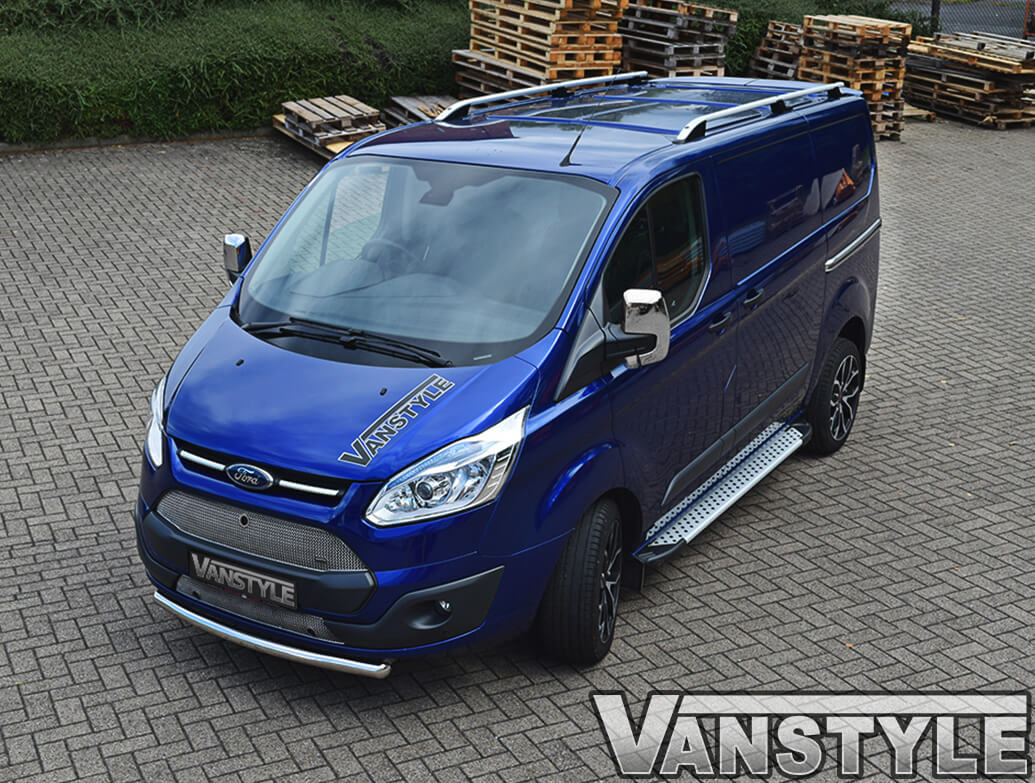 Roof Styling Bars Silver Aluminium Ford Transit Custom