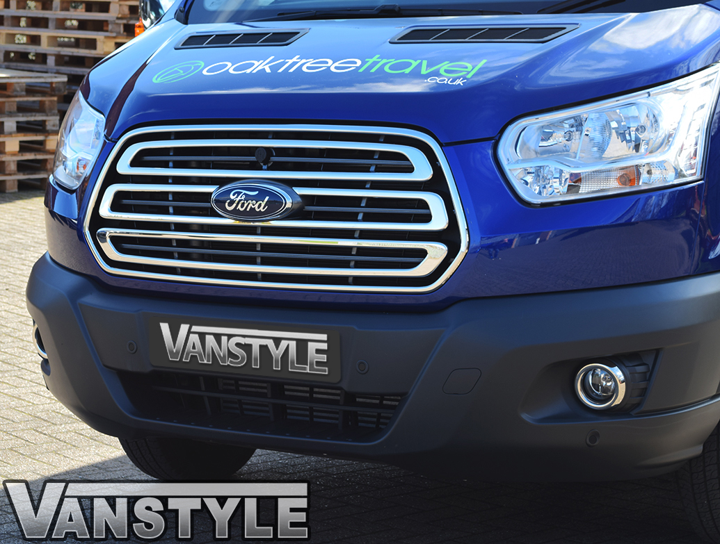 Ford Transit MK8 3 Piece S.Steel Front Grille Cover 2014-2019
